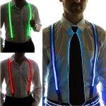 「光るネクタイ」と「光るサスペンダー」登場。かなり光ってる。どちらも1000円以内