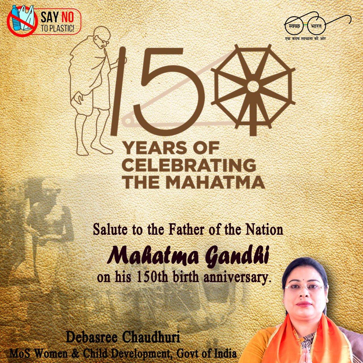 #Gandhi150  #SayNoToPlastic   @PMOIndia  @MinistryWCD