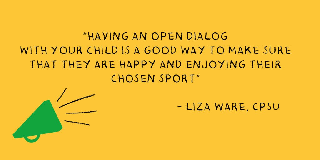 As a parent, its you who your child will look to for help. So its very important to show that you are listening to them and really value what theyre telling you. #ParentsinSportWeek #SportsParents