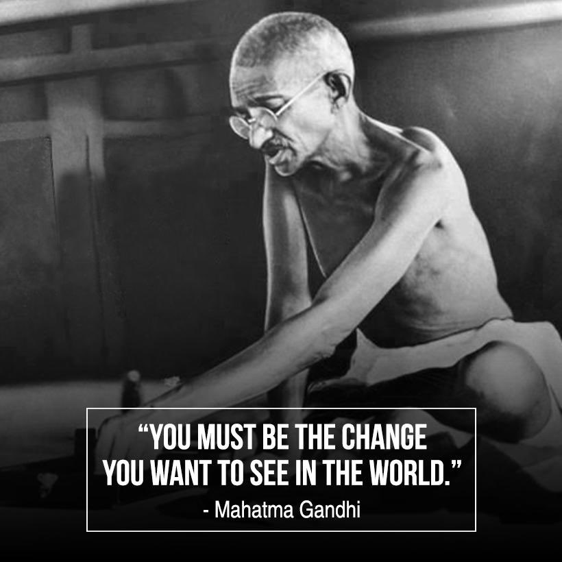 Happy Gandhi Jayanti to all my fellow Indians.. He is just the proof how one mans positive intentions can change an entire nation for the good. 🇮🇳 Jai hind 🇮🇳