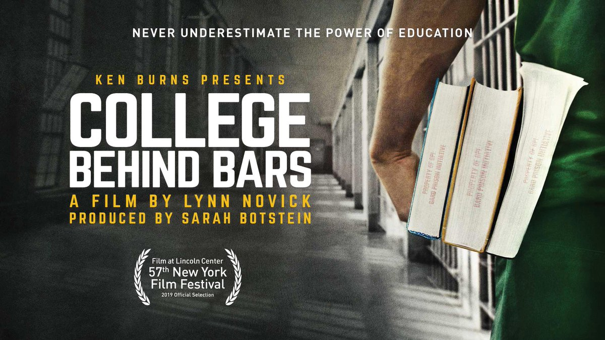 Over the past 20 years fewer than 4% of @BPIBard graduates have gone back to prison. @LynnNovick tells the story in #CollegeBehindBarsPBS produced by @kenburns. She, @DrTedJ & BPI founder @maxkenner will speak with recent grads at next weeks screening. newamerica.org/nyc/events/col…