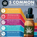 There are a ton of misconceptions about CBD. 🌿🤔Here are 5 of the most common debunked.   Learn more about CBD and save up to 50% OFF | Link in Bio ✅💻 https://t.co/Ie0Hr3iwoe  #CannaBotanics #PopularCBDbrands #Hemp #HempLife #HempFacts #CBD #THC