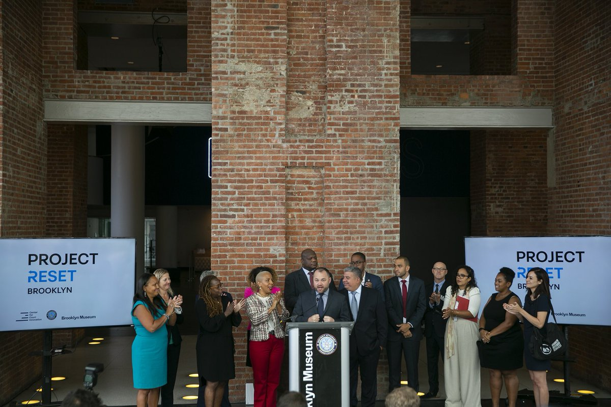 Photos of @NYCSpeakerCoJo and @cmlauriecumbo during announcement of Project Reset at @brooklynmuseum. flickr.com/photos/3421087…