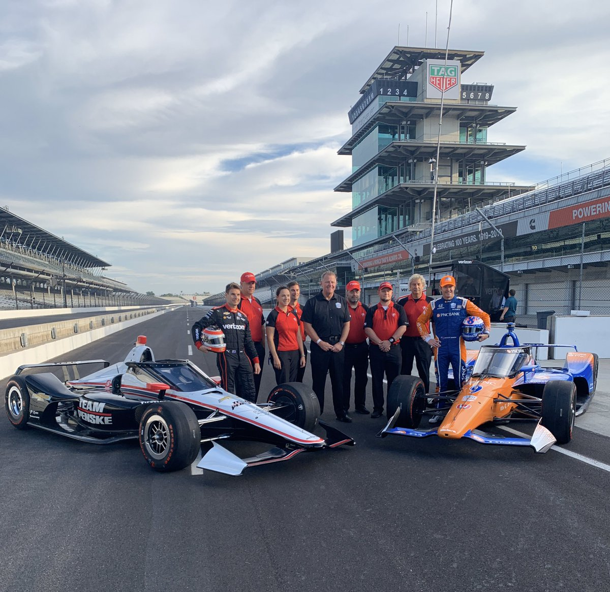 Time to make history at #IMS today. Join us on the turn 2 mounds to see @scottdixon9 and @12WillPower test the @INDYCAR Aeroscreen! #IsItMayYet | #Indy500