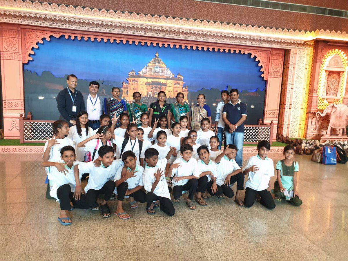 @150th Birth Anniversary of Father of the Nation, 30 underprivileged children flew fm #Ahmedabad Apt to Birth Place of #Bapu under #UDAN scheme of GOI. The future is bright Hawai Chappal se Hawai Yatra. Honble CM of Gujarat also conveyed his wishes to Children.@AAI_Official