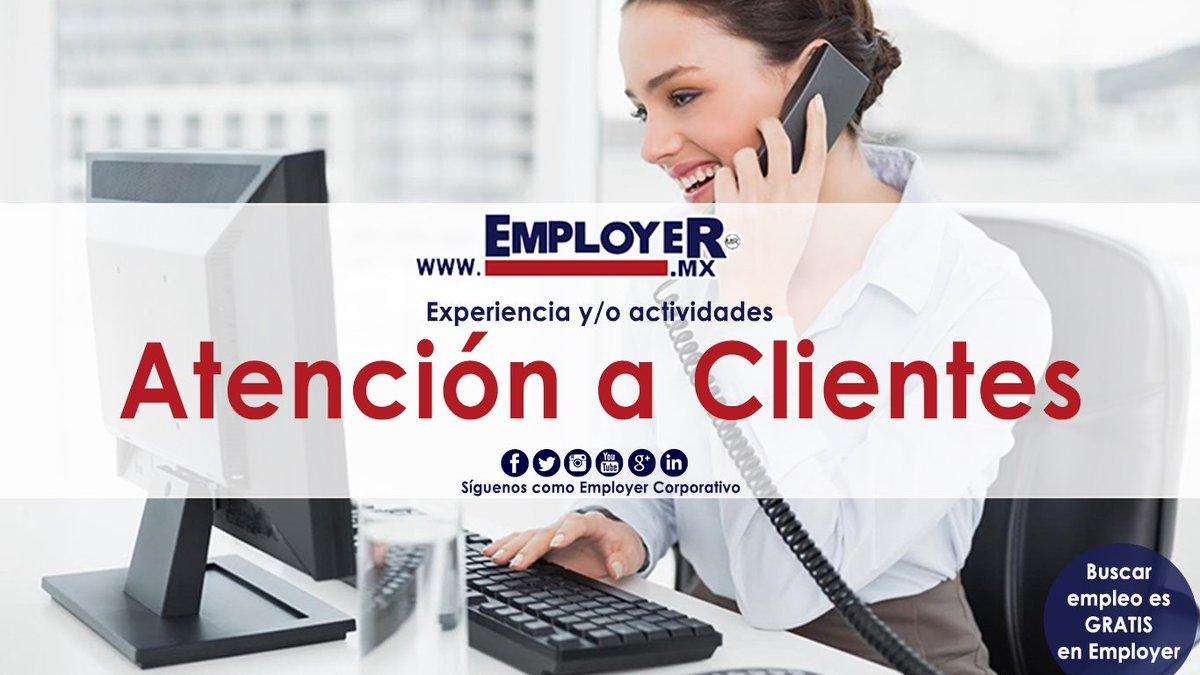 #EmployerMX tiene #Vacantes para #ATENCIÓNACLIENTES para construir tu futuro, entra a ➡  captura tu CV, consulta las vacantes, postúlate y ¡listo! Jamás hubo tanta atención al #Éxito