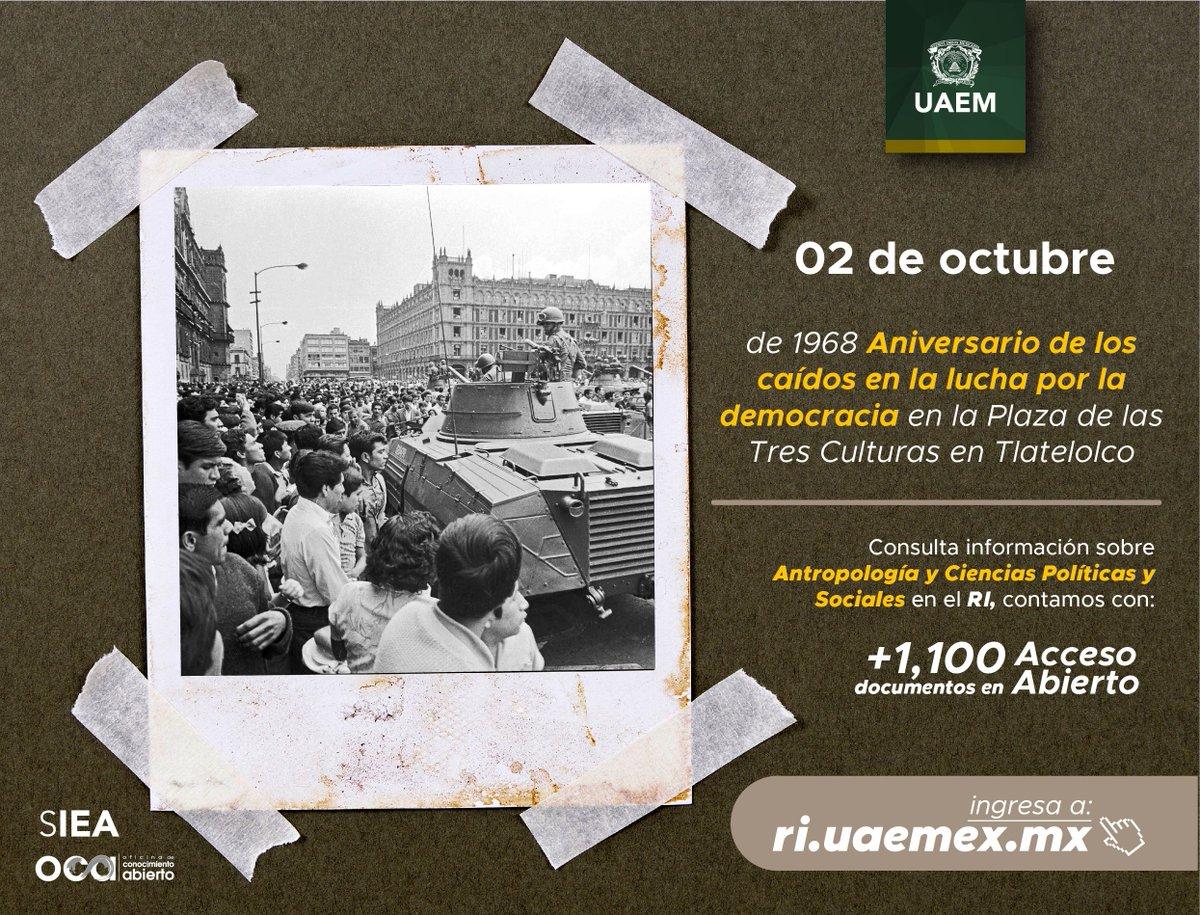 #MiUniversidadEs #AccesoAbierto Te invitamos a consultar producción sobre #CienciasPoliticasySociales #Antropologia en el @RIUAEM_MX; contamos con +1,100 documentos disponibles para ti. Entra a https://bit.ly/2E0GE9Mpic.twitter.com/jdmqW1vVsw
