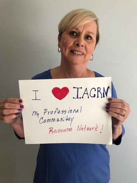 Gearing up for the biggest conf yet! Let us know what youre looking forward to. Join the lovefest where CRNs are sharing why #ILoveIACRN. Get your sign, take a pic and post to your Twttr account with the tag #ILoveIACRN or send to iacrn@iacrn.org and well post it for you!