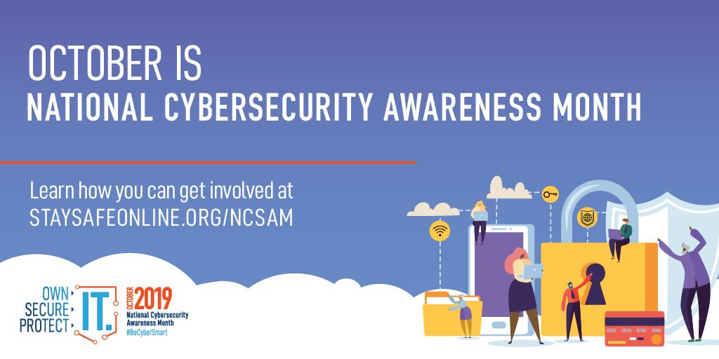 #BeCyberSmart This National Cybersecurity Awareness Month, learn how to protect yourself from ransomware, a malware that targets human and technical weaknesses in networks and prevents victims from accessing data.