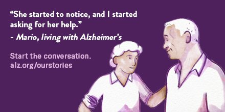 When something feels different, it could be Alzheimer's. Now is the time to talk. Visit alz.org/OurStories to learn more.