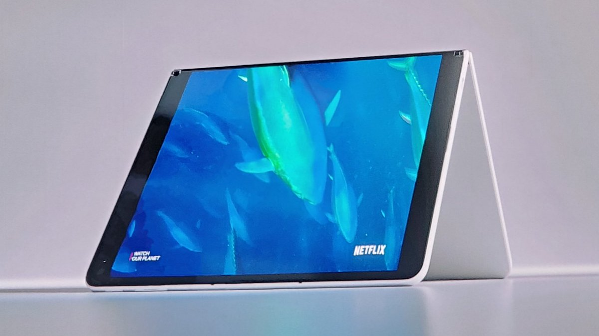 Microsoft Surface Neo -Dual 9 LCD Displays -5.6mm thin each side -655g -360° hinge -Magnetic Pen & Keyboard -Windows 10X Built for Dual Screens -Intel Lakefield Processor Coming Holiday 2020 #MicrosoftEvent