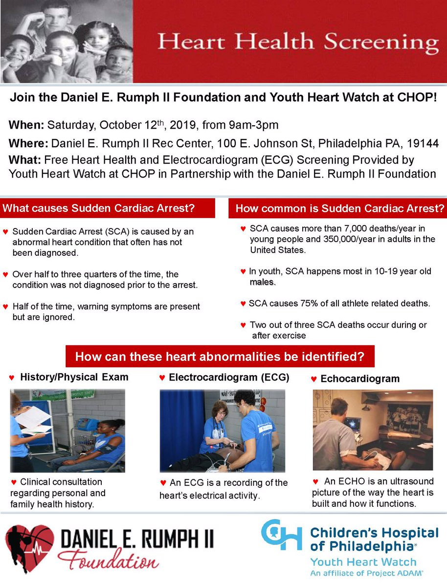 @MookMorris2 @Keefmorris Yo Fam! I need you to retweet this..we're trying to get kids to come to Free Heart Screening next Saturday 9am-3pm age 9-19