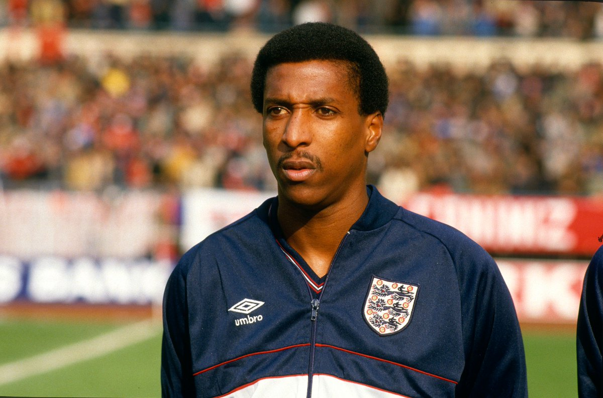 @StGeorgesPark @Anderson_Viv (1956-) Made history in November 1978 by walking out at Wembley Stadium to become the first black player to win a senior @England cap. Went on to win 30 caps for England and played under Brian Clough and Sir Alex Ferguson at club level. #BlackHistoryMonth
