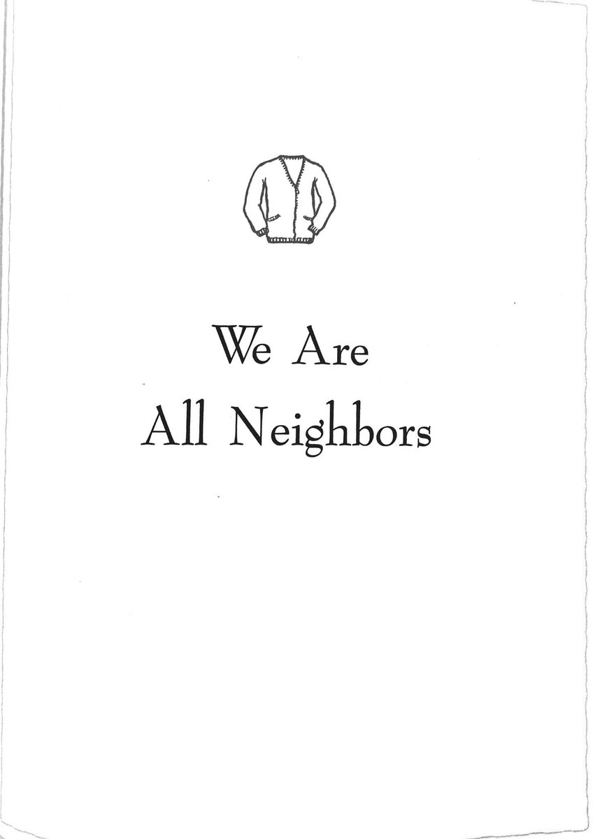 """""""We are all neighbors."""""""