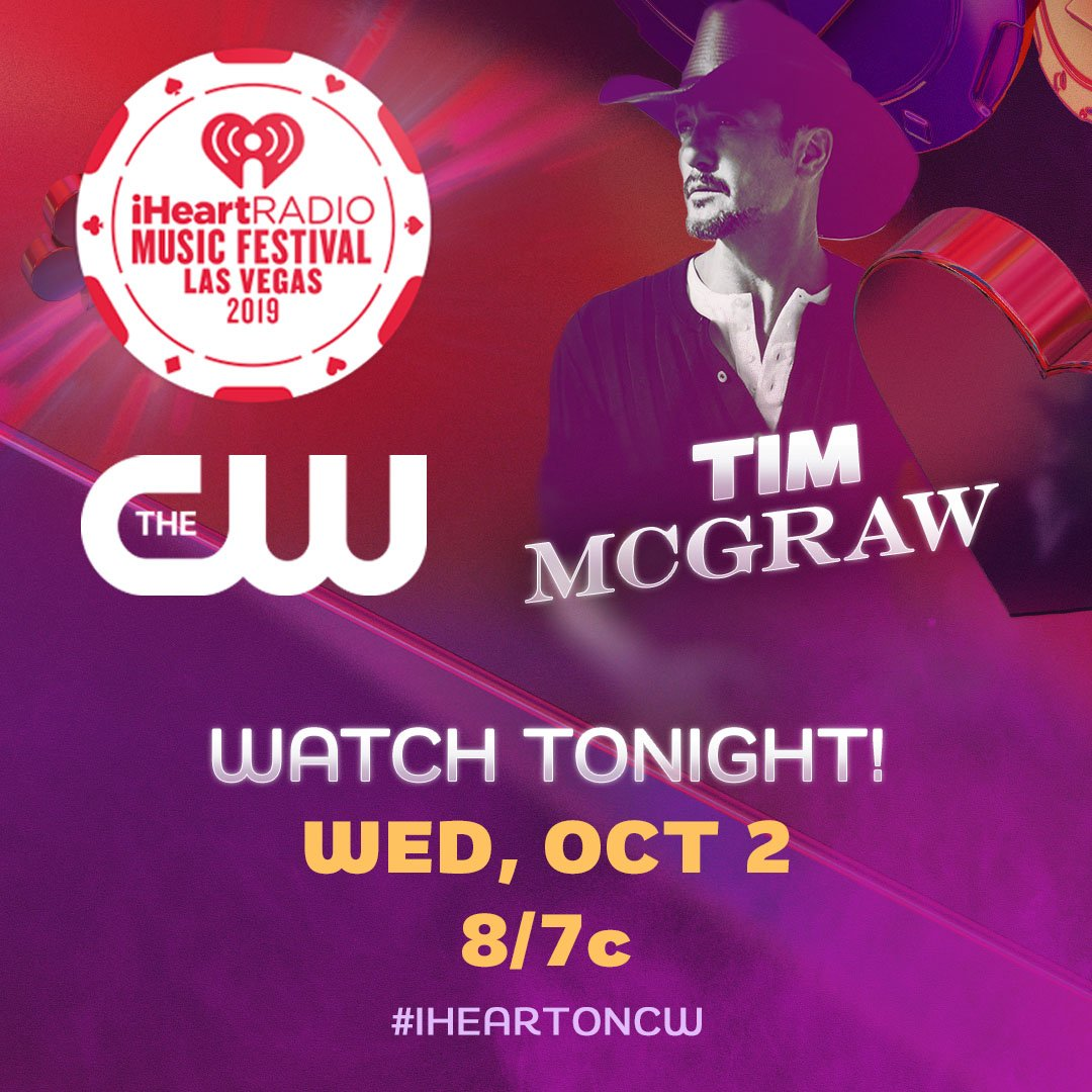 TONIGHT! Relive @TheTimMcGraws amazing performance from the 2019 iHeartRadio Music Festival on the CW at 8/7c #iHeartOnCW