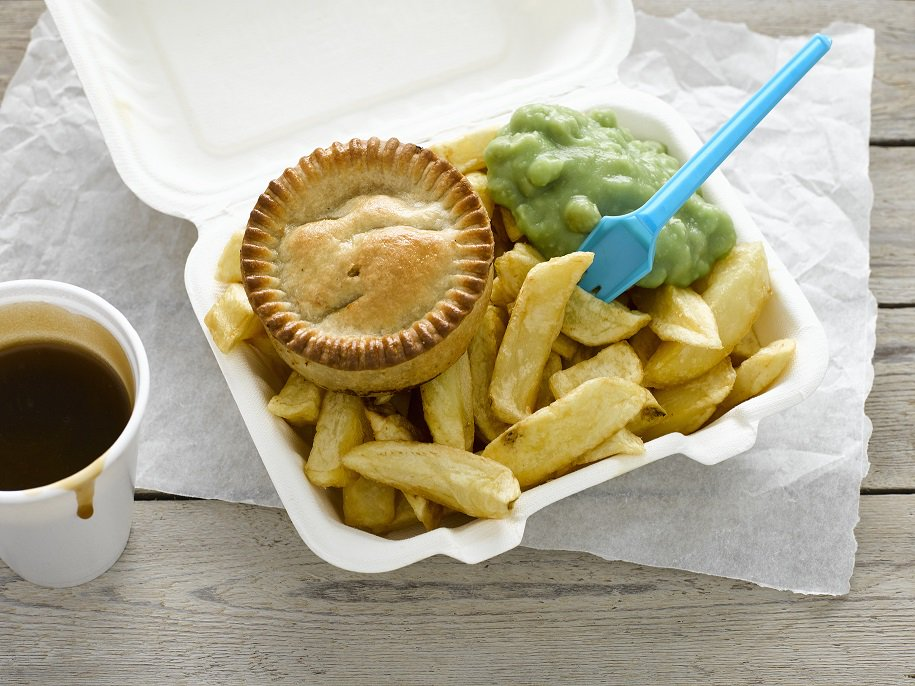 Stressful day at work? Get yourself to the chippy for a tea, sure to put a smile on your face!