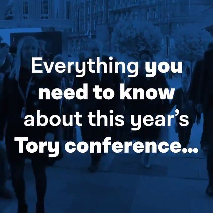 Here's everything the Tories don't want you to know about Tory Party conference in 30 seconds. #CPC19