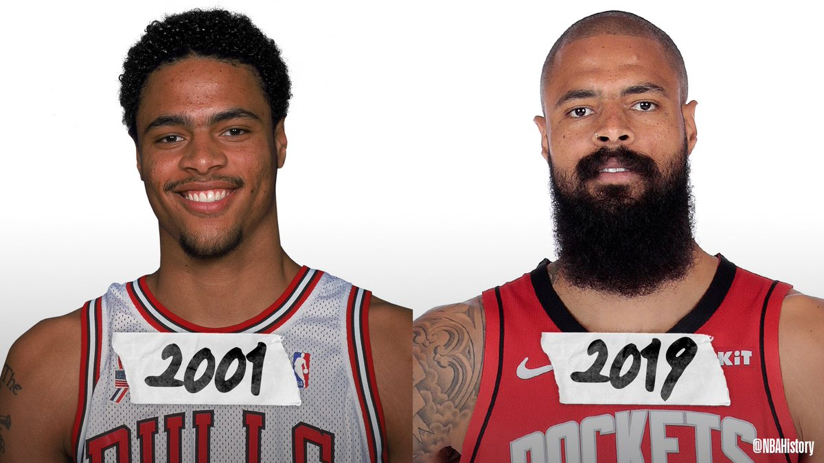 On his 37th birthday... @tysonchandler from Year 1 to Year 19! #NBAMediaDay #NBABDAY