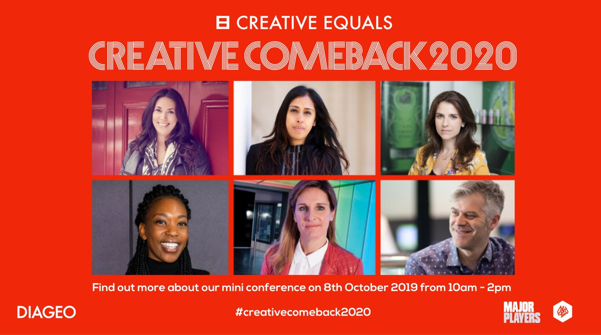 Had a career break? Want to make your #CreativeComeback in 2020? If you want to return, this one's for you. Tickets are £15, but if that's too much drop catriona@creativeequals.org a note https://the-dots.com/events/creative-equal-s-creative-comeback-273…