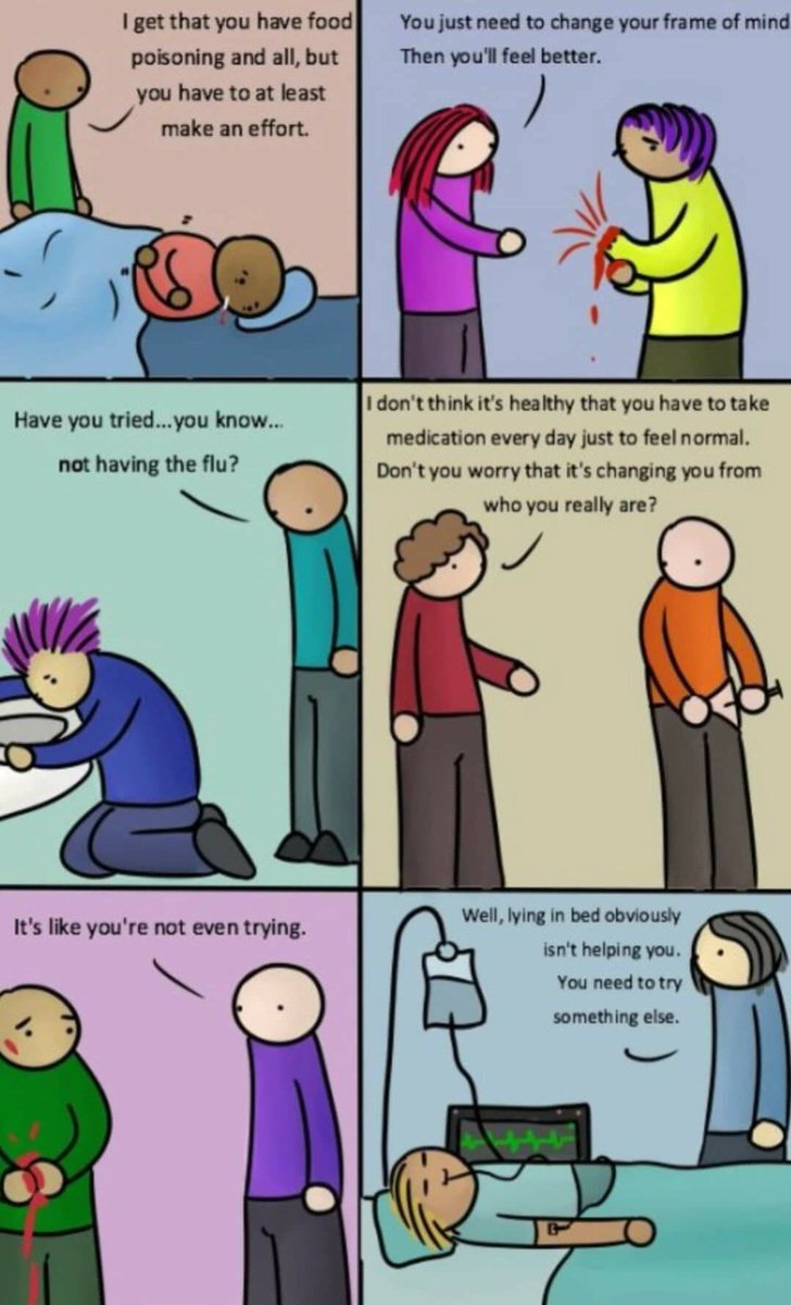 We wouldn't say these things to those with a physical illness #depression