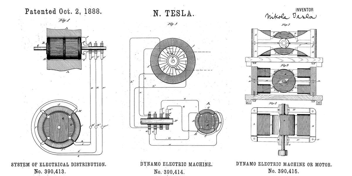 tesla electric motor diagram