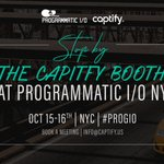 Now that Advertising Week has come and gone, NYC is gearing up for the next industry event, @adexchanger's #PROGIO. The @Captify team will be back this year and is looking forward to hearing from the leaders driving the latest trends in #Programmatic media and marketing!
