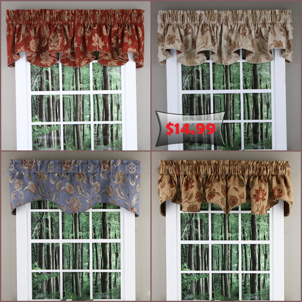 Swags Galore On Twitter Want To Update Your Windows But Want To Stay On A Budget Check Out These Elegant Heavy Weight Jacquard Melbourne Scalloped Valances Available In 4 Great Colors Starting