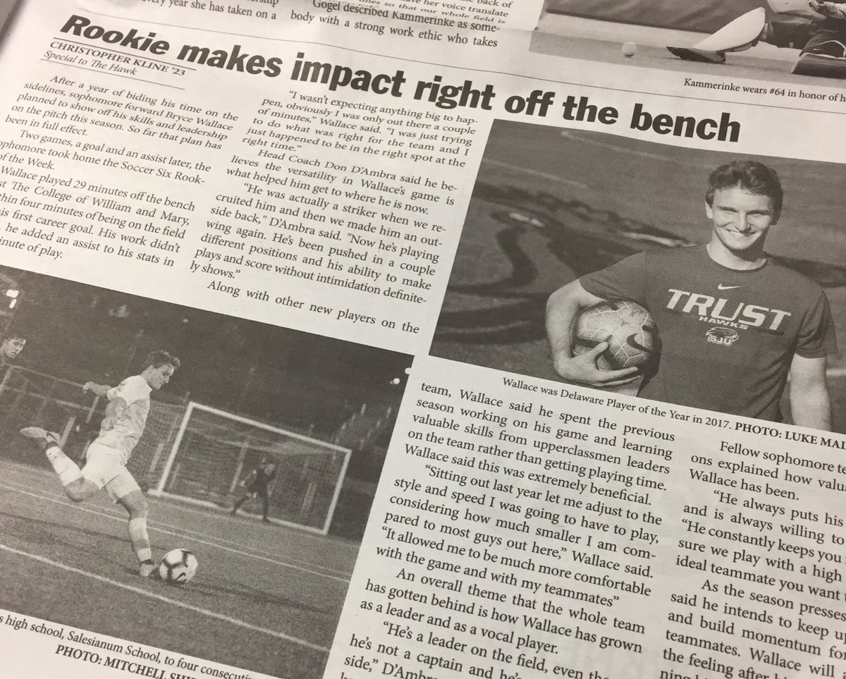 👏 @brwally9, Delaware FC 99 Alumni  @SJUHawks_MSoc // Rookie makes impact off the bench  #delawarefc #delawarefootballclub #delawarefcalumni