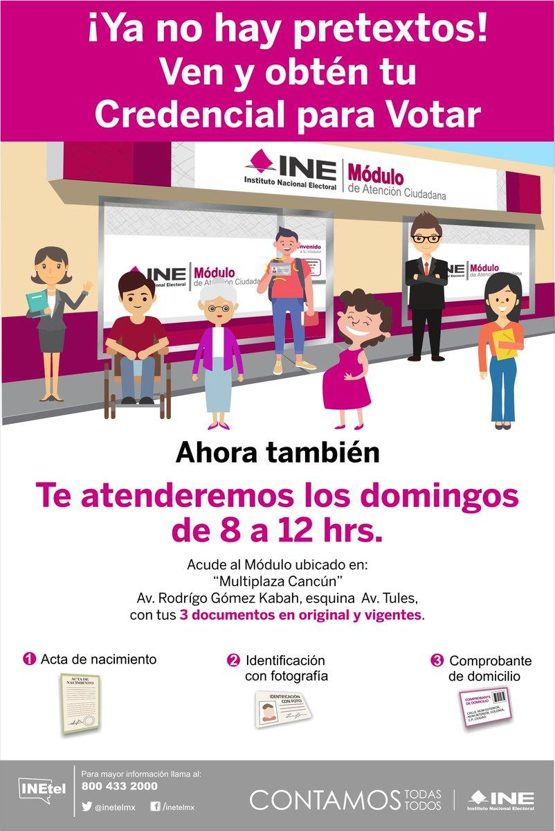 Ine Cancún On Twitter Modulo De Atención Ciudadana 230351
