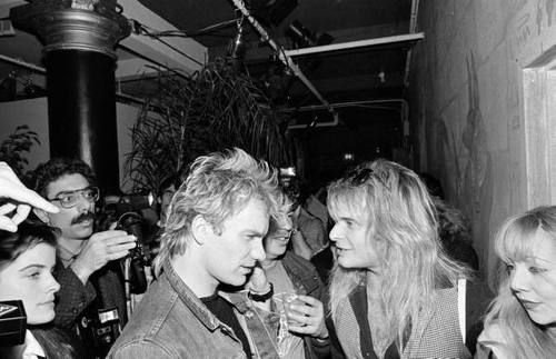 Happy Birthday seen here in 1983 trying to make sense of David Lee Roth.