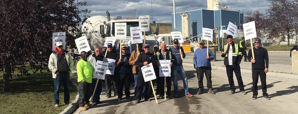 New contract ratified between @teamsters362 and Inland Concrete, ending a nine-day strike at three Inland locations across #yyc - wait to go, 362!