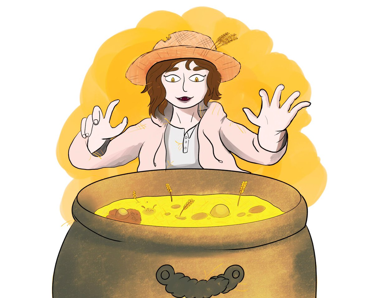 Wheat Witch  You dummy, there is an easer ways to make bread.   Did what I want for today's prompt as I had no ideas.   #inktober #inktober2019 #inktoberprompt #wheat #witch #magic #digitalart #digitalpainting #illustrationpic.twitter.com/57ioj2MiPr