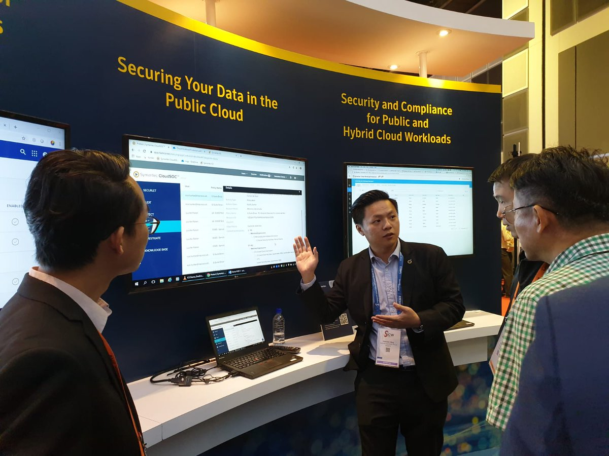 Want to learn more about securing your data in the Cloud? Come visit our booth H02 and speak to our cybersecurity experts.   #SICW2019 #GovWare2019 #SymantecAtGovWare2019 https://t.co/AuqJZInZ1Z