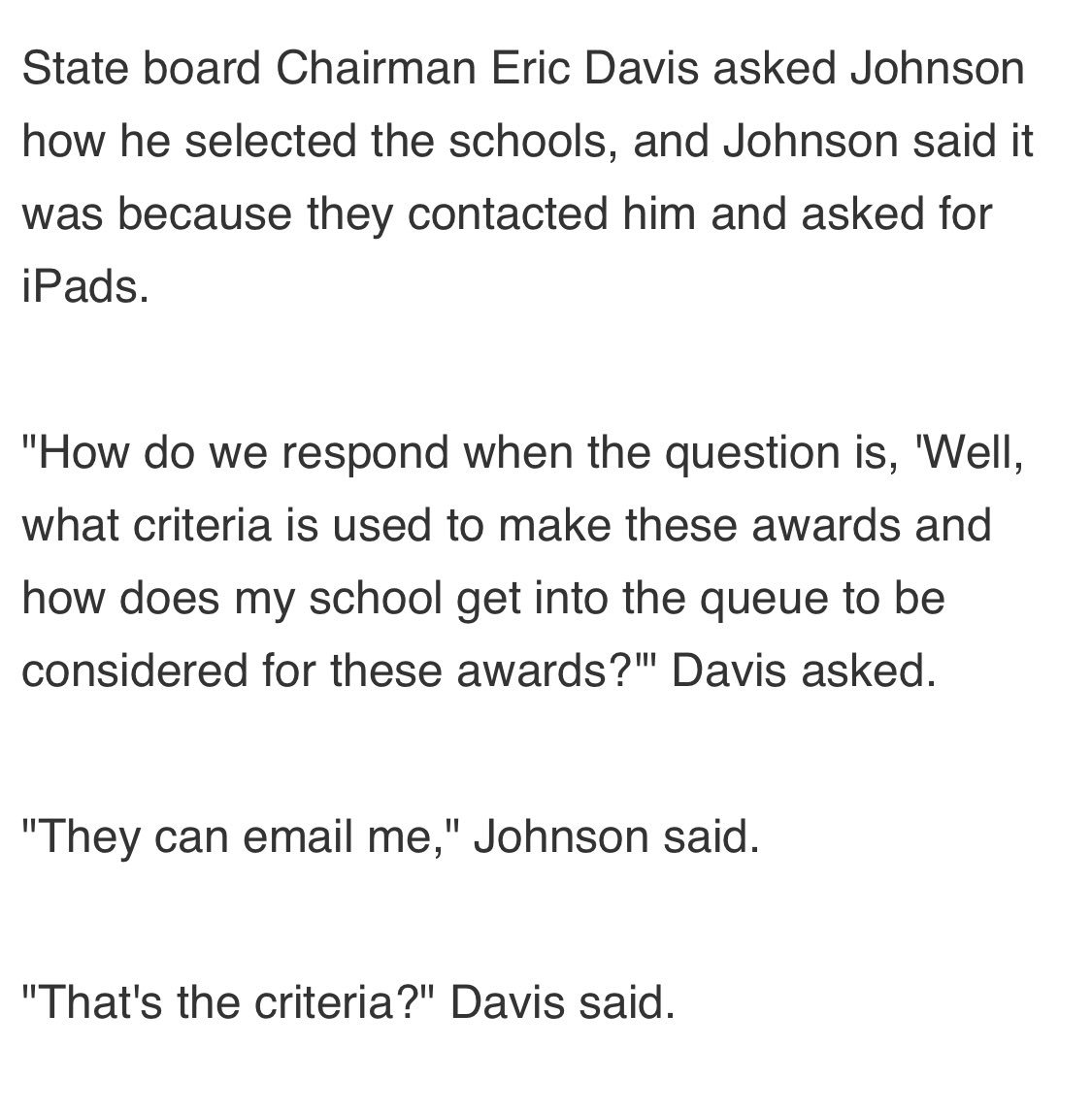 Check out the criteria for teachers getting iPads from our superintendent 👀#nced #ncga #ncpol