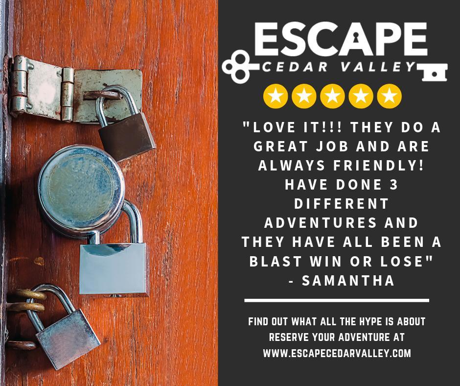 Escape Cedar Valley >> Escape Cedar Valley Escapecv Twitter