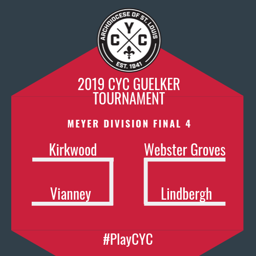 The Final 4 bracket is set in the Meyer Division at the CYC Guelker Tournament. Great soccer ahead!