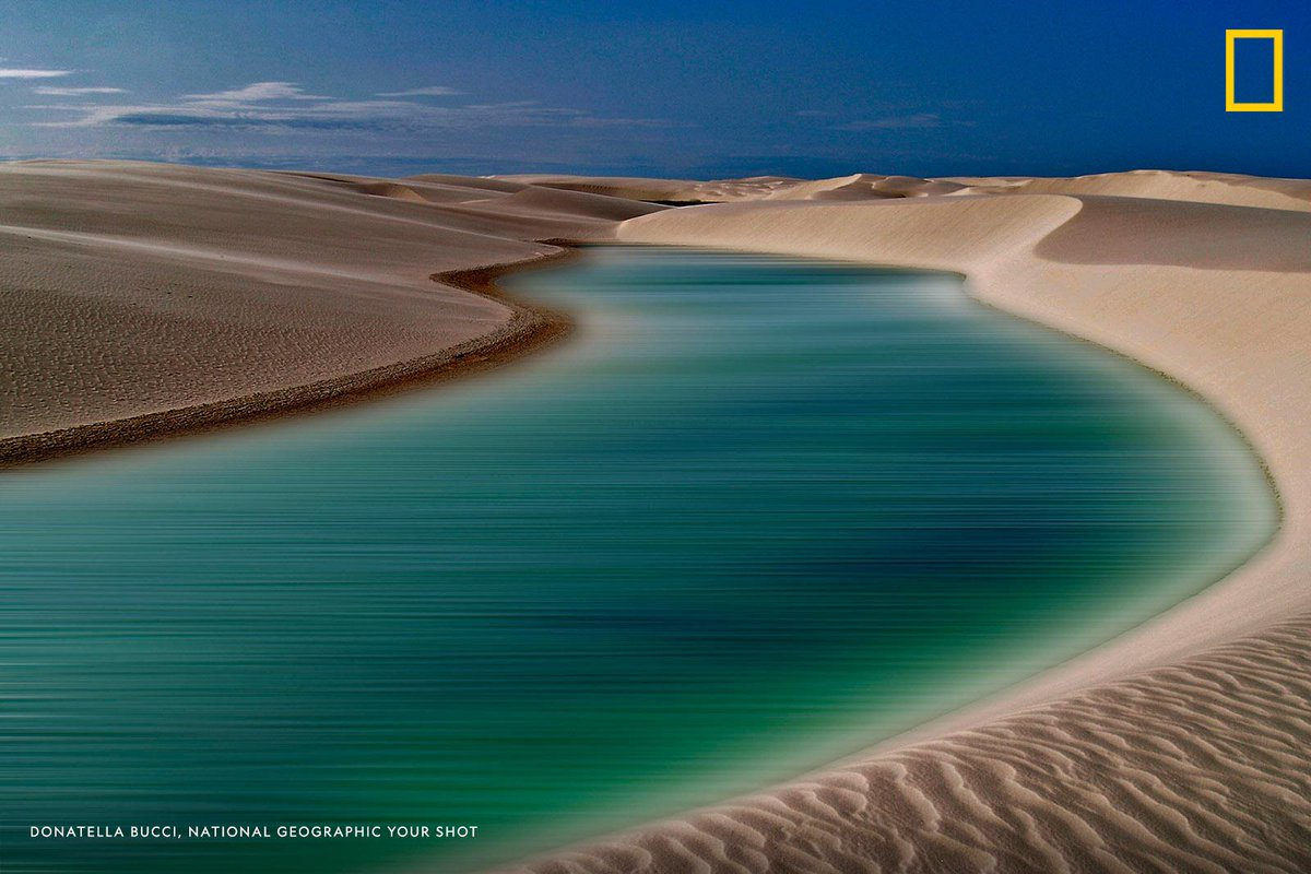 #YourShotPhotographer Donatella Bucci captured this image of the dunes in Lençóis Maranhenses National Park. The park is located in northeastern Brazil despite the area being abundant with rain, it supports almost no vegetation. https://on.natgeo.com/2n8CbvC