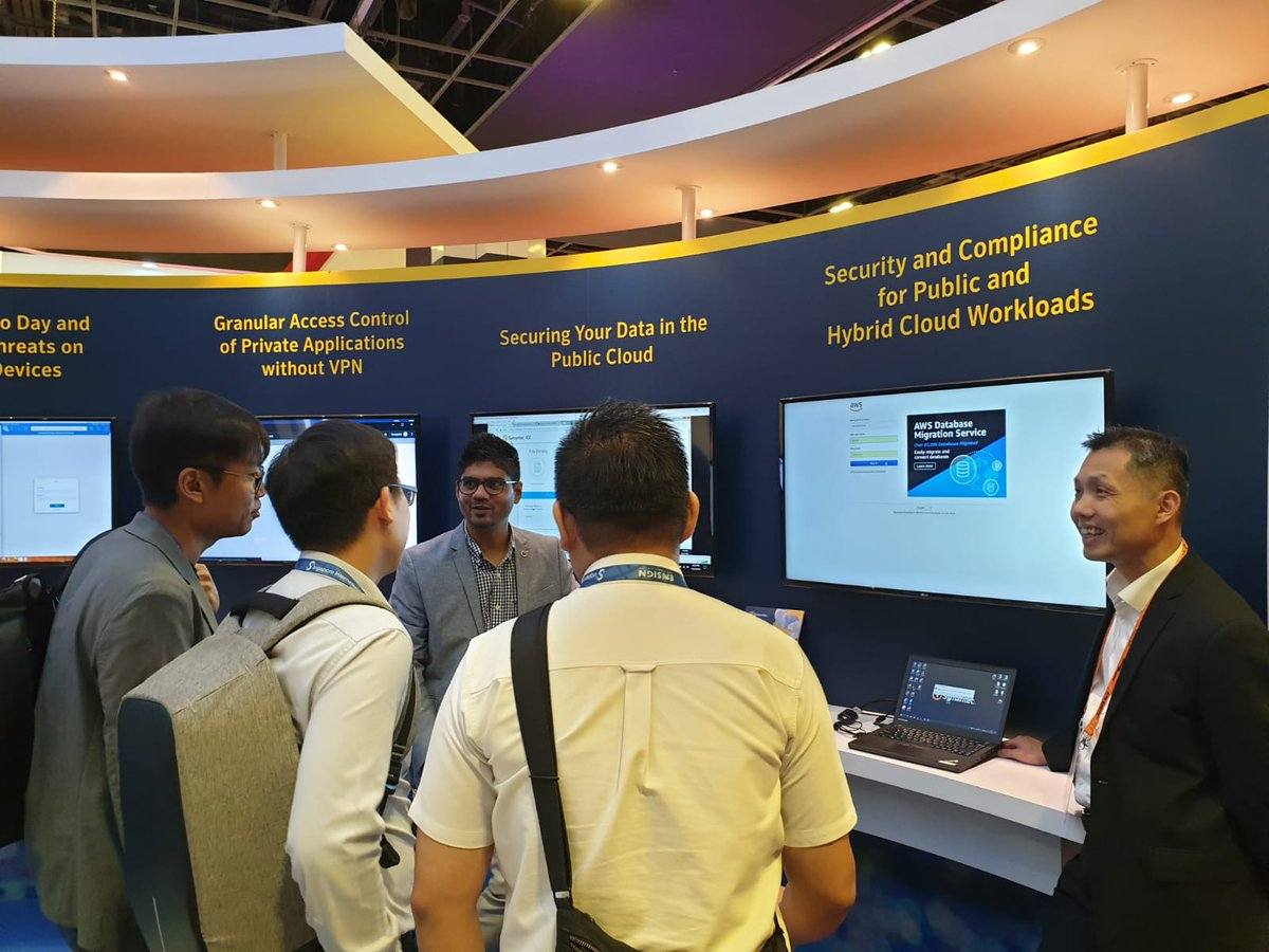 #GovWare2019: Our friendly cyber security experts are here to share more and give a demo on our solutions. Visit our booth H02 and learn more from our team.  #SICW2019 #SymantecAtGovWare2019 https://t.co/1kFfSU6DmK
