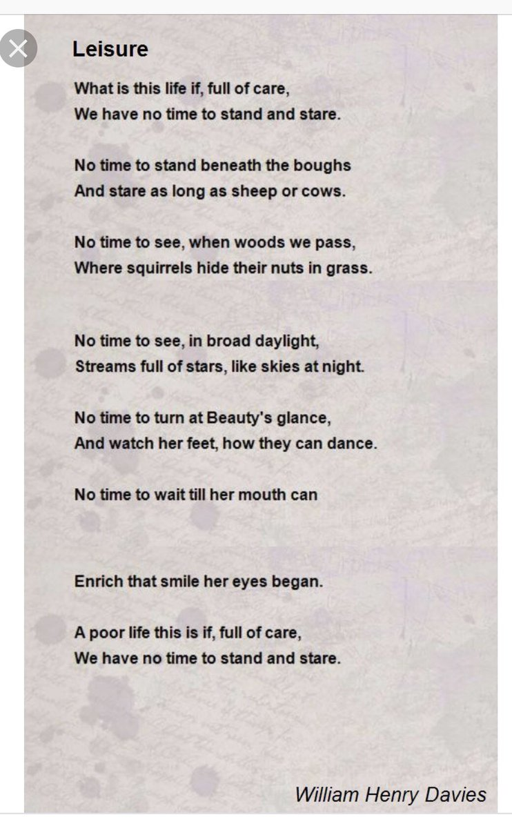 """""""What is this life, if full of care, we have no time to stand and stare...."""" Happy #NationalPoetryDay"""