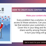 Image for the Tweet beginning: HOW TO CREATE BLOG CONTENT