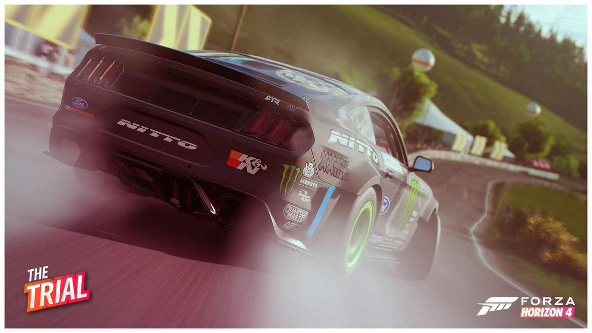 The final hours are counting down for this weeks Festival Playlist! Hurry to race in The Trial if youre wanting to receive the RTR Mustang before the season changeover in #ForzaHorizon4