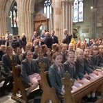 Image for the Tweet beginning: Y6&Y7 at Worcester Cathedral to