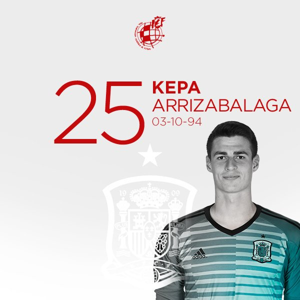 🥳 ¡¡FELIZ CUMPLEAÑOS🎂 @kepa_46!! 🥳 El internacional de la @SeFutbol cumple 25 años🙌🏼 ¡¡MUCHAS FELICIDADES!!🤗