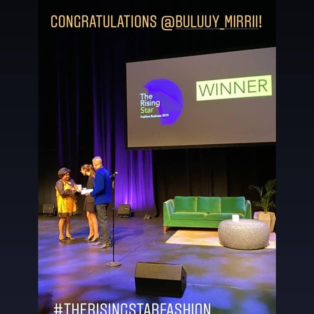#WINNER of the Rising Star in Fashion Label 2019 🥇🏆🎊🎉💫💃🏾🥂👠💄👜👗 @buluuy_mirrii  @#designerbuluuymirrii  #colleentighejohnson  #australianlabels #AustralianFashion #gomeroi #aboriginal  Greatful to be one of three finalists for The Rising Star in Fashion Label https://t.co/KdN3SEImwz