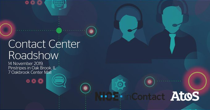 Join us for a #ContactCenter Roadshow, sponsored by @Atos and @inContact. Take a look...