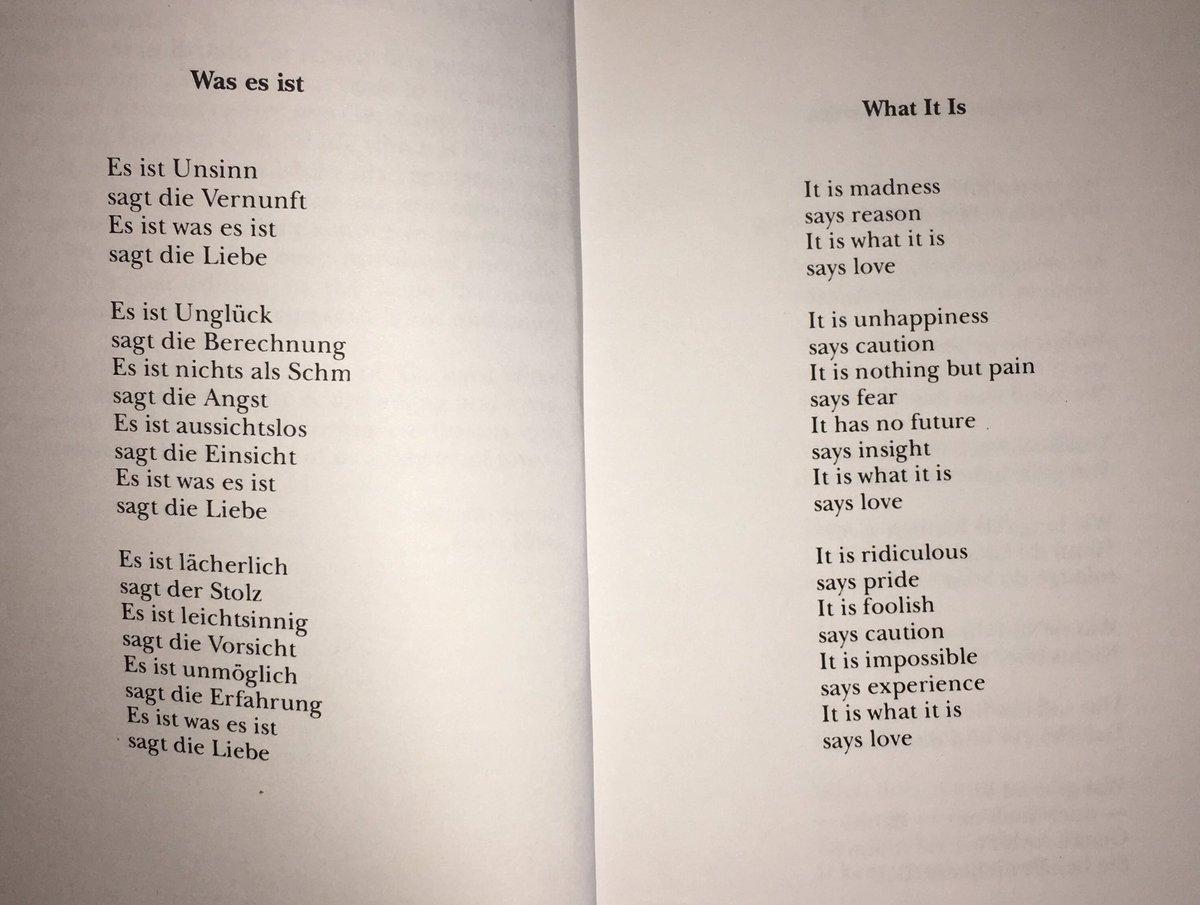 Es was es fried gedicht ist ist erich Erich Fried: