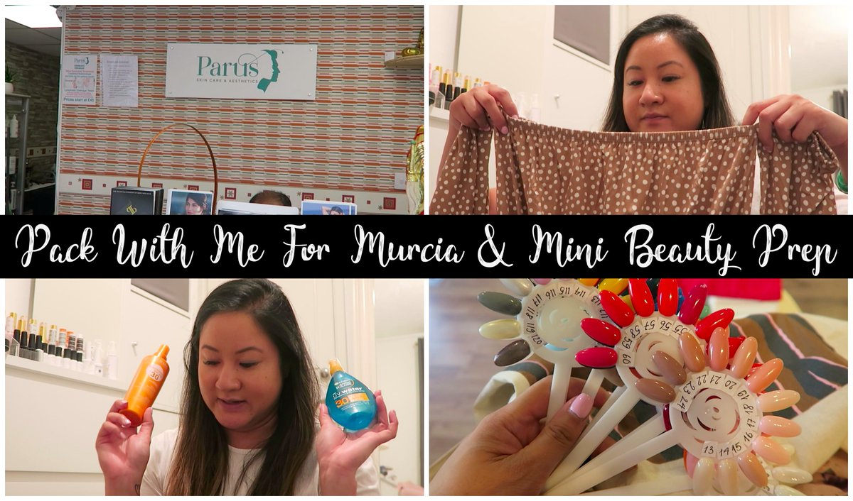 Pack With Me For Murcia & Mini Beauty Prep -  #beautyprep #holidaybeauty #travelbloggers