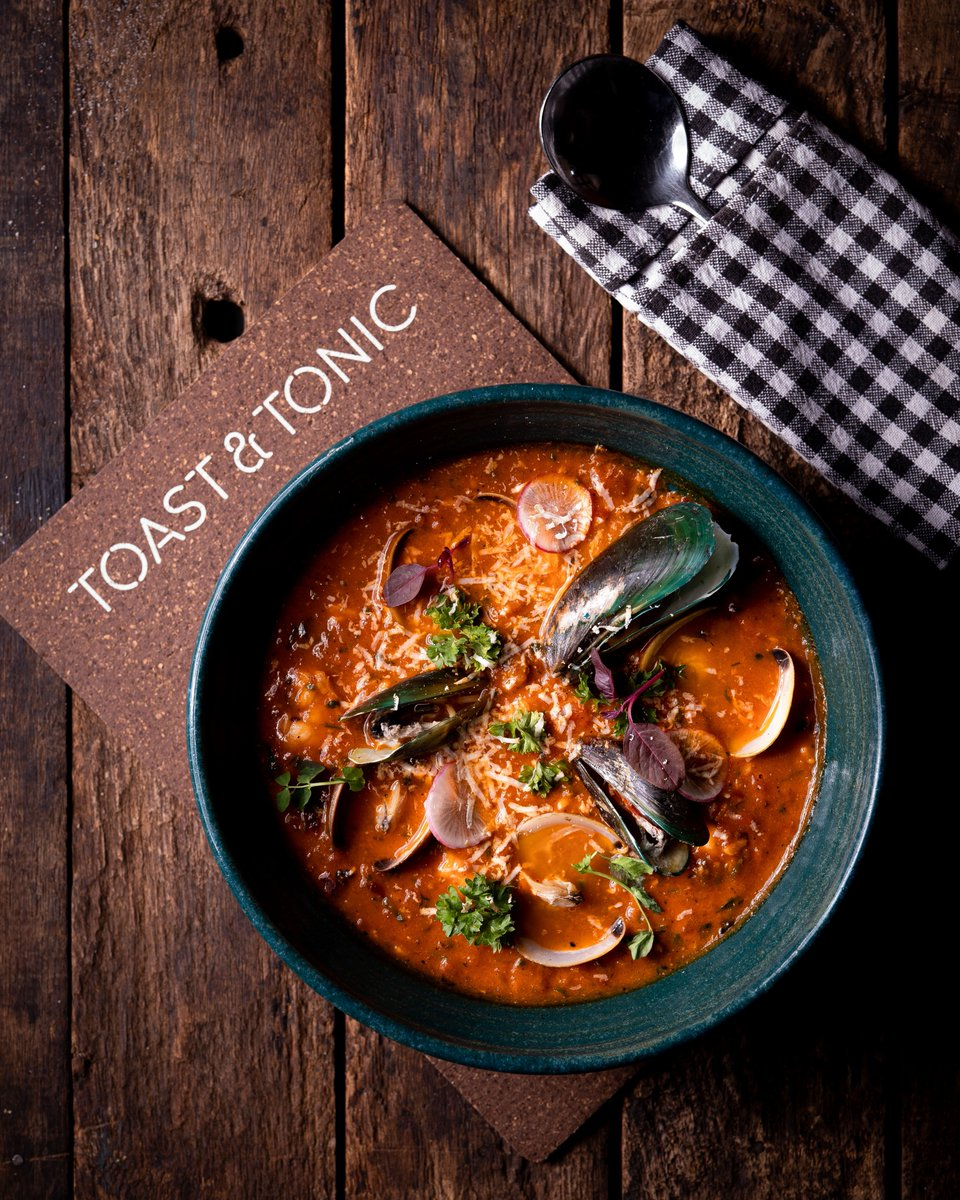 Sponsored: Toast & Tonic's new menu, ElMundo (a plate for everyone) lets you order in the same breath, a seafood-sausagestew from New Orleans and Dan Dan Noodles from China. More global dishes and five new gin cocktails, now live at @toastandtonic, BKC.