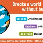Image for the Tweet beginning: October is National Bullying Prevention