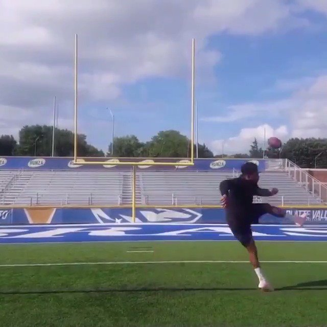 Watch out, NFL, the New England Patriots just signed a trick-shot (?) kicker